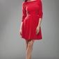 Czerwona elegancka sukienka z rękawem 34