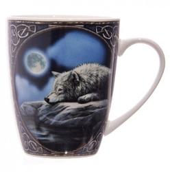 Wilk nad jeziorem - porcelanowy kubek z nadrukiem projekt: lisa parker