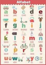Alfabet - plakat wymiar do wyboru: 20x30 cm
