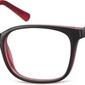 Czerwone oprawki optyczne korekcyjne sunoptic cp151d