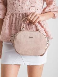 Listonoszka damska kuferek skórzany rovicky twr-82 różowa - różowy