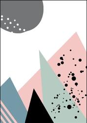 Pastelowe góry - plakat wymiar do wyboru: 21x29,7 cm