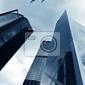Fototapeta hongkong wieżowce i samoloty na niebie