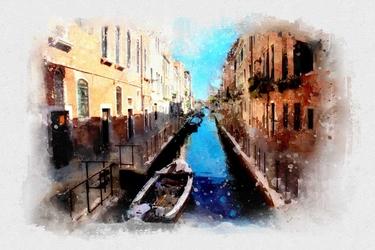 Wenecja akwarele - plakat wymiar do wyboru: 50x40 cm