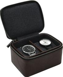 Pudełko na zegarki podróżne stackers dwukomorowe brązowe