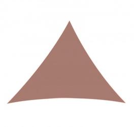 Żagiel przeciwsłoneczny trójkąt zacieniacz 5x5x5 m ciemny czerwony