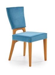 Krzesło wena w tkaninie velvet w kolorze niebieskim