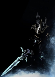Blizzardverse stencils - arthas, the lich king, warcraft - plakat wymiar do wyboru: 21x29,7 cm