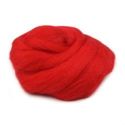 Wełna czesankowa 20g - czerwony - CZE