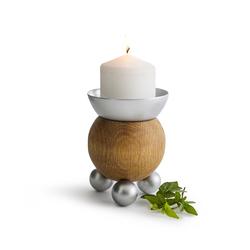 Świecznik Oval Oak Sagaform