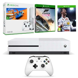 KONSOLA XBOX ONE S 500 GB + FIFA 18 + FORZA HORIZON 3 + HOT WHEELS