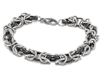 Bransoletka ze stali nierdzewnej srebrna splot - SREBRNA    srebrny