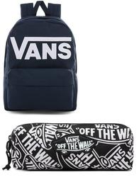 Plecak szkolny Vans Old Skool III Dress Blues-White - VN0A3I6R5S2 + Piórnik Vans