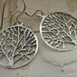 Natura - srebrne kolczyki drzewa