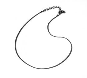 Łańcuszek - prosta linka 40 cm, kolor czarny hematyt