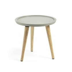Drewniany stolik ogrodowy livy 40x40 cm szary