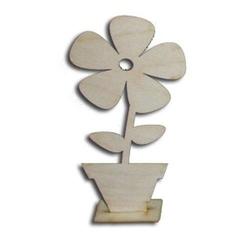 Drewniany kwiatek w doniczce 150x70x3 mm