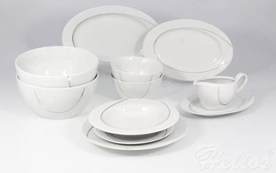 Serwis obiadowy bez wazy dla 12 os.  44 części - e939 vega platyna
