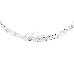 Łańcuszek diamentowany figaro ogniwa płaskie pr. 925 ø 0100 waga od 10,5g