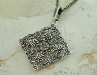 Jolan - srebrny ażurowy wisior