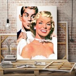 American retro - obraz designerski w stylu retro , wymiary - 50cm x 70cm