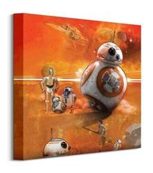 Star wars ep7 bb8-art - obraz na płótnie