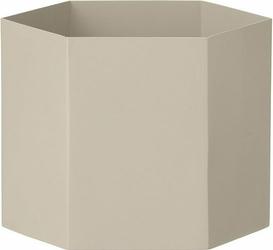 Doniczka Hexagon XL jasnoszara