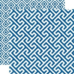 Papier 30,5x30,5 cm Style EssentialSapphire geome - 02