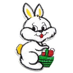 Naprasowanka termo aplikacja królik biały