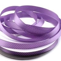 Wstążka satynowa w drobne kropki 10 mm1m-fiolet - fioletowy