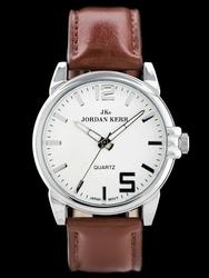 Brązowy Męski zegarek na pasku JORDAN KERR - B6947 zj064b