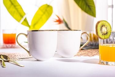 Kubki do kawy i herbaty porcelanowe altom design paradise, zestaw 2 kubków