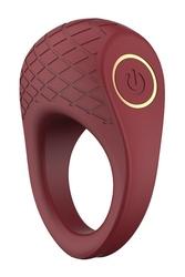 Pierścień erekcyjny z wibracjami romance ivy bordowy | 100 dyskrecji | bezpieczne zakupy