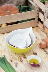 Zak miska 25 cm onion żółta