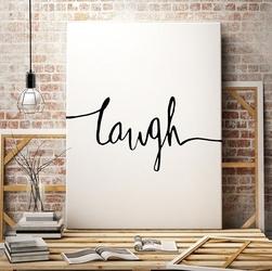 Laugh - minimalistyczny obraz na płótnie , wymiary - 100cm x 200cm