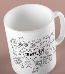 Travel kubek biały universal