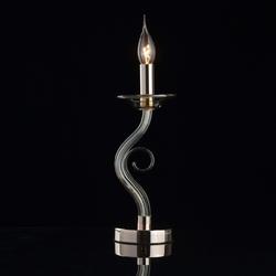 Lampa stołowa złoty chrom i szkło, bez abażura ella mw-light elegance 483033101