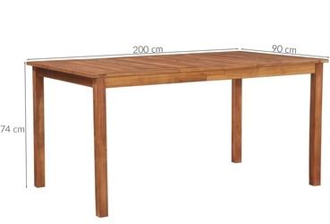 Komplet ogrodowy stół + 8 krzeseł vanto polirattan brązowy