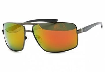 Okulary męskie dla kierowców aviator polaryzacyjne lustrzanki pol-14a