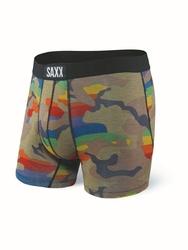Bokserki męskie saxx vibe boxer brief rainbow supersized camo - camo