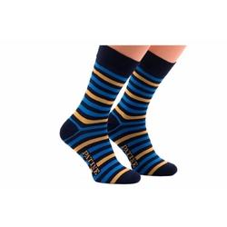 Męskie niebieskie skarpety w paski patine socks