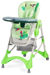 Caretero magnus new green krzesełko do karmienia + puzzle