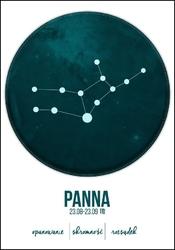 Znak zodiaku, panna - plakat wymiar do wyboru: 21x29,7 cm