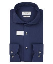 Niebieska koszula w strukturę profuomo slim fit 42