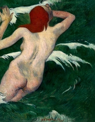 In the waves, paul gauguin - plakat wymiar do wyboru: 21x29,7 cm
