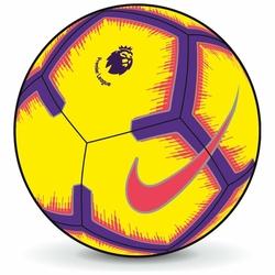 NIKE Piłka Nożna Premier League Strike SC3597-710 - Żółty || Fioletowy