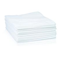 Jednorazowe chusty zabiegowe  20 szt. 70x40 cm biała fala
