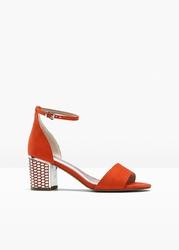 Sandały marco tozzi bonprix pomarańczowy
