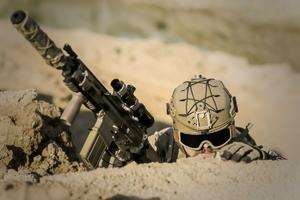 Fototapeta na ścianę żołnierz w okopach fp 5856