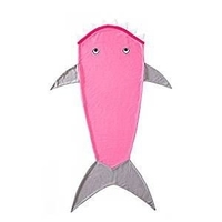 Śpiworek rekin shark różowy 145cm kocyk